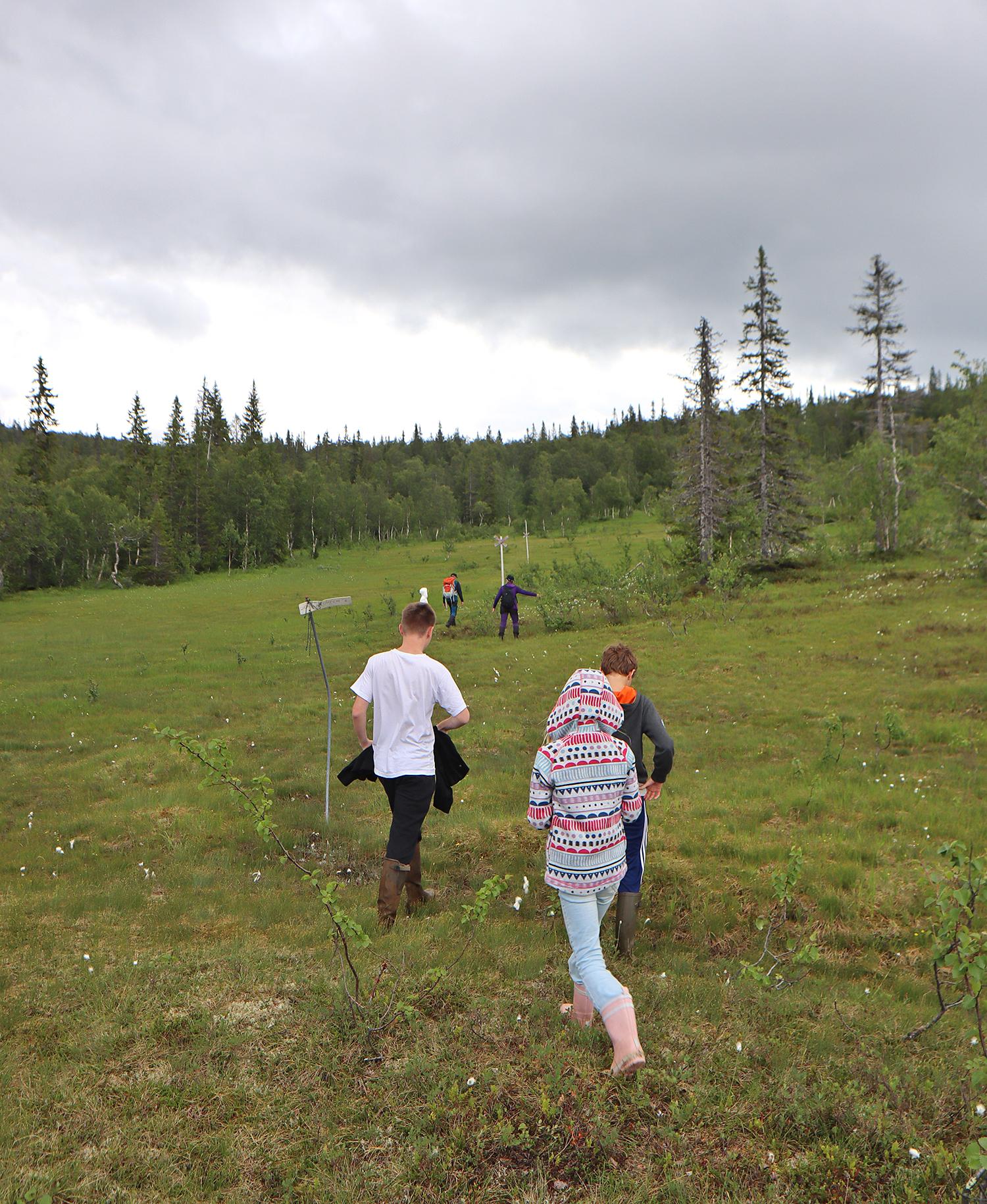 fjällvandring med barn