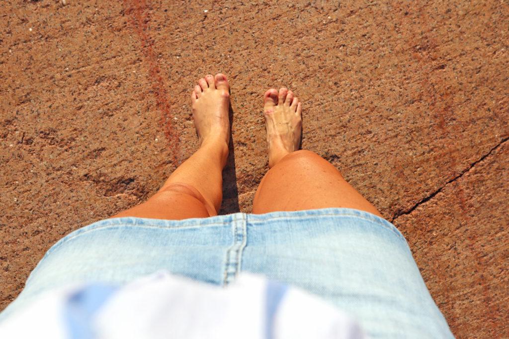 Anna Lissjanis, fötter, Snäckö, Åland