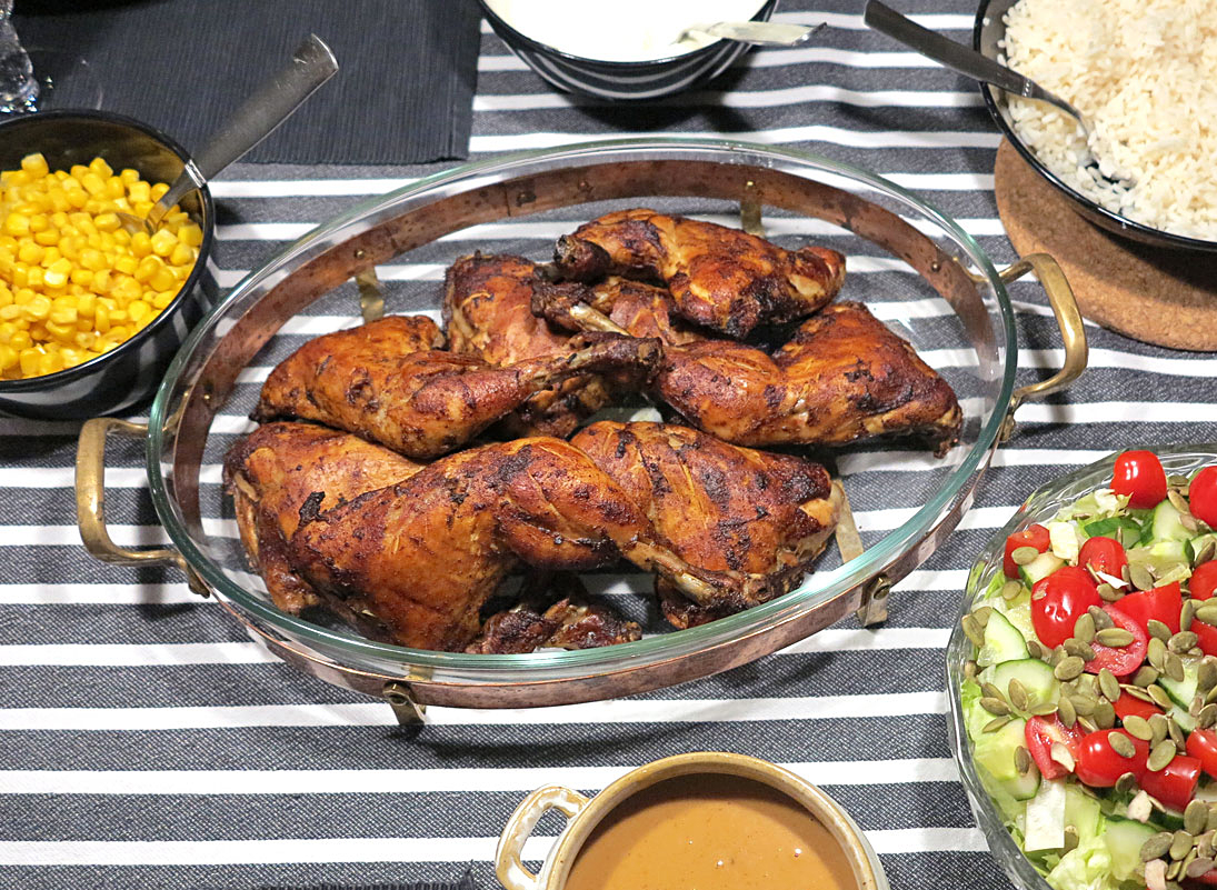 ugnsgrillad kyckling