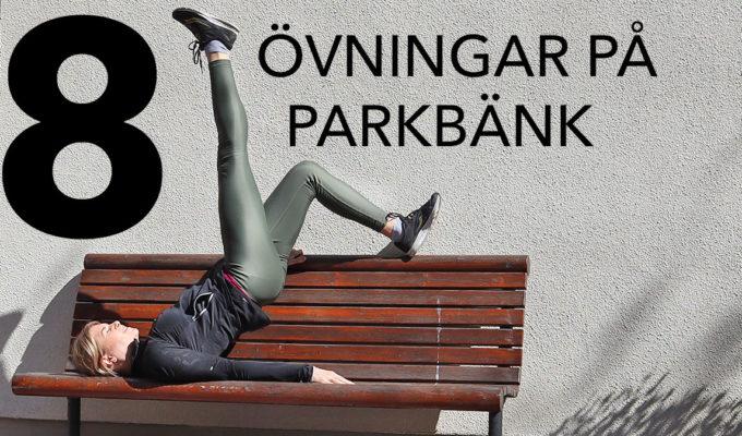 övningar på parkbänk
