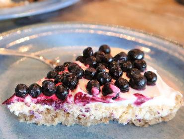 sockerfri blåbärscheesecake
