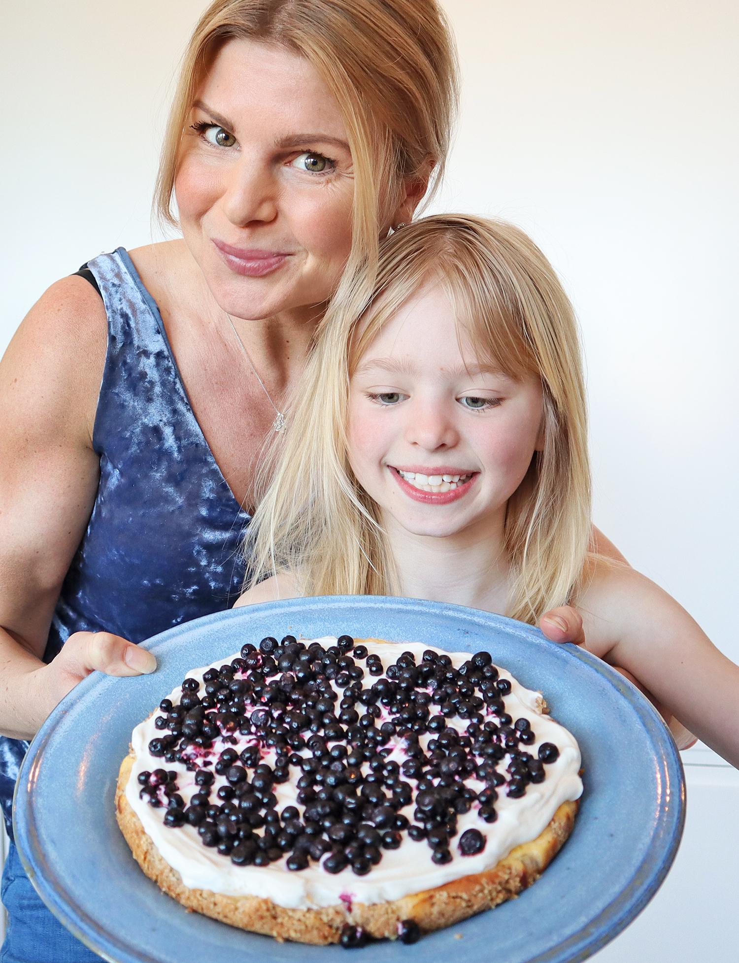 sockerfri blåbärscheesecake Anna Lissjanis