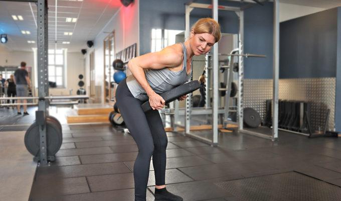 I veckans träningsprogram får du 9 övningar med viktplatta.