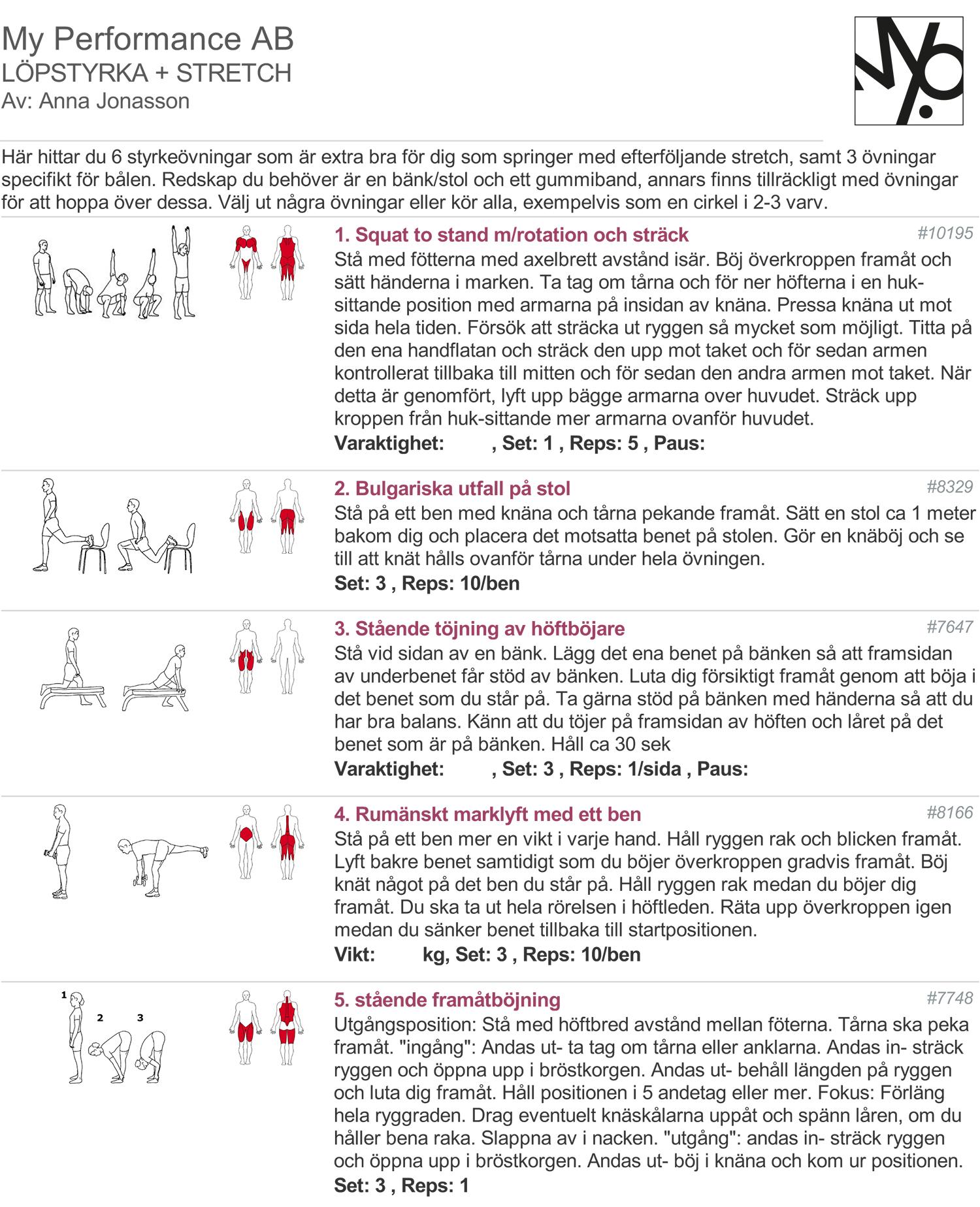 träningsprogram med löpstyrka
