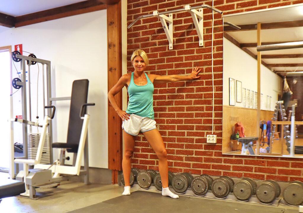 övningar vid en vägg