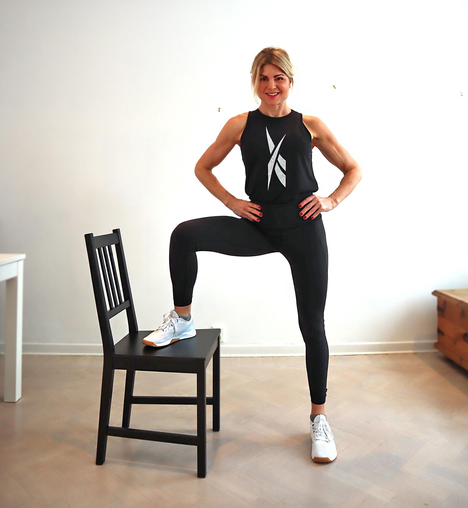 Träna på en stol