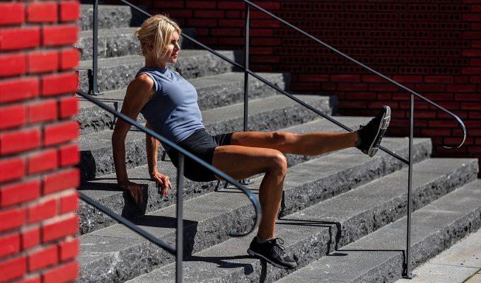 styrketräna i trappa